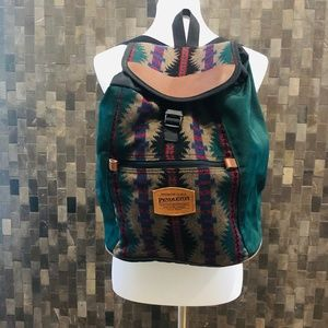 Pendleton Wool, Leather and Canvas Backpack
